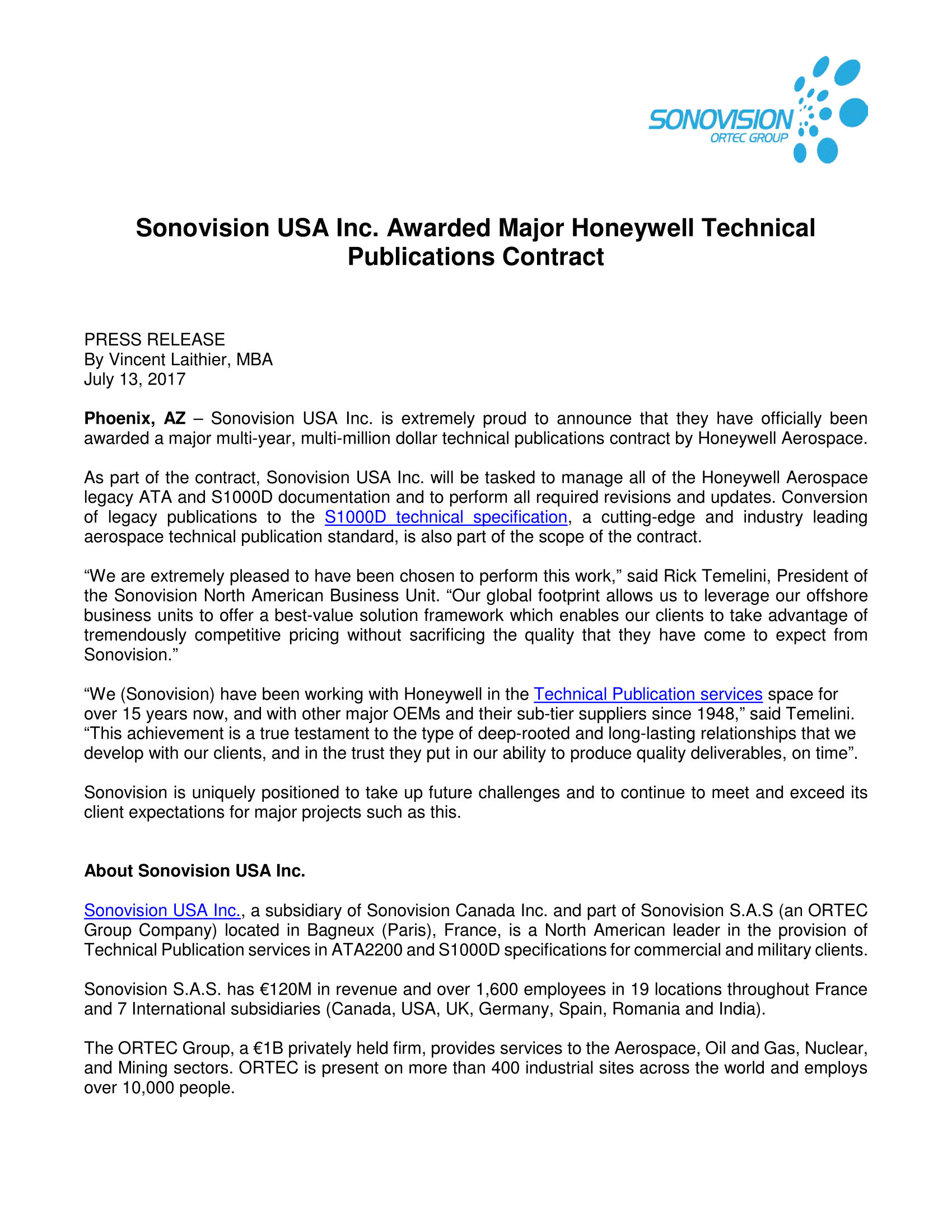 Honeywell contract PR - May 2017 - Final-1